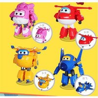 Wholesale Mini styles Super Wings toys Mini Planes Model Transformation Airplane Robot Action Figures Boys Birthday Gift Brinquedos