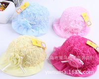 autumn rose photography - 2016 New Fashion Cute Rose Flower Baby Sun Hat Summer Hats Cotton Newborn Photography Props Baby Cap Accessories