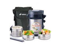 Wholesale Stainless Steel Japanese Thermos Lunch Box w Insulated Lunch Bag Chopsticks Vacuum Food Container Food Box Lunchbox ml
