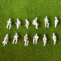 Wholesale All Sitting White Figure Brand New Miniature Seated Passenger Human being Model Figures