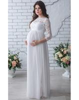 autumn icon - The new pregnant women long sleeve wedding dress lace wedding jewelry floor length chiffon belt fashion icon
