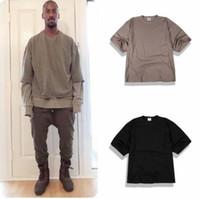 basic season t shirts - yeezyboost season basic models wild loose prime High Street T shirt male models simple Kanye