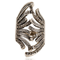 Wholesale 2016Hot Sale Women Full Finger Rings Double Anomaly Shape Ring For Women In The Party Anelli Donna Anillos Mujer Hj10427