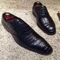 belly shoes - Top quality dress wedding party office carrier shoes use the whole crocodile belly goodyear technique especially suit for fasion gentleman