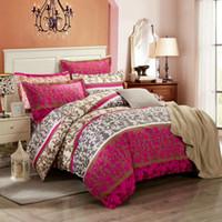 bedroom set mattresses - European Lines Bedding Set Cotton Duvet Cover Set Bedspread Fitted Flat Sheet Pillow Cases Mattress Cover bedroom textile