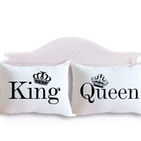 Wholesale Drop Shipping King Queen Couple Decorative Pillowcase Valentine s Day Gift Body Pillow Case Romantic cmx75cm cmx90cm for Chris