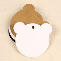 bear bookmark craft - Cute Bear cm Kraft Paper Clothes Price Hang Tags Wedding Party DIY Cards Xmas Gift Wrap Label Bookmark Blank Hand Luggage Tag