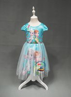 Summer anna beauty - Frozen fever girls dresses princess girl party dress elsa anna birthday children lace cosplay clothes with cape kids beauty flower skirts