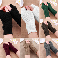 Wholesale Fashion Unisex Men Women Knitted Fingerless Winter Gloves Soft Warm Mitten New Sale