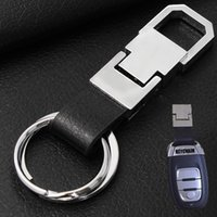 best auto accessories - Creative Men s Leather Car Key Ring Keychain Fashion Car Styling Best Auto Accessories