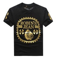 Wholesale 2016 Fashion Robin s Jean Shirts Mens T Shirts Robin Jeans Shirts Cotton robins t Shirt Hip Hop Men Short Sleeve T Shirt New
