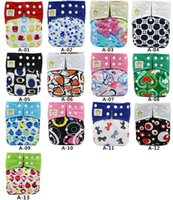 Wholesale Asenappy Bamboo Charcoal Baby Reusable Cloth Pocket Diaper Covers All in One Size Nappy