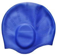 Wholesale ear protect swimming cap silicone hats waterproof elastic free size adult swimming pool gear good quality colors choose