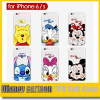 disney wholesale - Hot Sales Electroplating TPU Soft Disney cartoon Case cover For iPhone S se S Plus