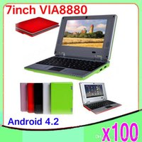 Wholesale 100PCSNew quot netbook Android Operation System Dual core WIFI inch Laptop Pocket Notebook Mini Computer ZY BJ
