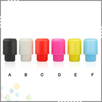 bear test - 510 Test Drip Tip Disposable Silica Gel Drip Tip Silicone Mouthpiece Wide Bore E Cigarette fit RDA Atomizers Colorful DHL Free