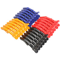 Wholesale New Arrivals Plastic Matte Set Section Hair Clip Clamps Hairdressing Salon Grips Crocodile Clips Tool