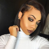 Wholesale Peruvian Silk Straight Hair Bob Wig Unprocessed Human Hair Short Bob Upart Wigs Glueless Sise Part For Black Women