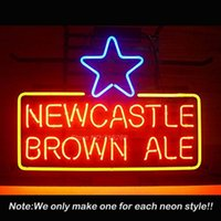 Wholesale Newcastle Brown Ale Neon Sign Neon Bulbs Recreation Room University Art Neon Signs Real Glass Tube Handcraft x15