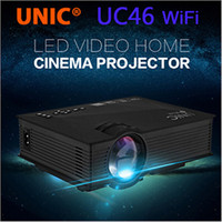 Wholesale Authentic UNIC UC46 with WiFi Mini Portable Projector Lumens Full HD P x480 Connection Home Theater LED Video Projector Laptop