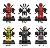 Wholesale Minifigures Super Heroes Enlighten Building Bricks Marvel movie Deadpool building blocks kids toys