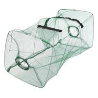 Tamaño 50x20x20cm plegable pescados del cangrejo accesorios Crawdad camarón del cebo de pesca Minnow molde de la trampa de herramientas de nylon jaula de red de la orden $ 18Nadie pista