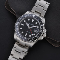 whites gmt - Hot seller Luxury watch mm Sapphire Glass Automatic Men s Ceramic Bezel Green GMT Watch Mechanical Automatic Mens Diving Watch