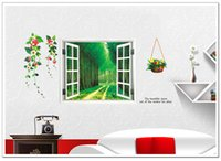 bedroom window pictures - Trees Windows wall sticker children s DIY adhesive art mural poster picture removable wallpaper baby room