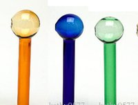 adc types - colored Oil Burner Thick cm glass pipe colorful glass tube glass puff bowl blue green amber all clear ADC