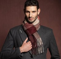 Wholesale Factory Selling Men Cashmere Shawl Scarves New Men Blanket Plaid Cozy Checked Tartan Scarf Wraps Shawl with Gift Box Packing