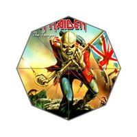 Wholesale Fashion Design Umbrella Custom Iron Maiden Band Folding Umbrella For Man And Women UPC