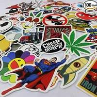 Wholesale 100 a pack Not Repeated Each Child Into A Single Burst Models Personalized Car and Motorcycle Trolley Cartoon Graffiti Stickers