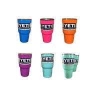 Wholesale YETI OZ Bilayer Stainless Steel Insulation Cup colorful yeti cooler Cups Cars Beer Mug Large Capacity Mug Tumblerful
