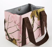 Wholesale Pink Real Tree Lunch Bag Outdoor Cooking Bag BBQ Accessories Inches Oxford Bag