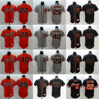 barry bonds baseball - 2016 Mens Elite Buster Posey Madison Bumgarner Willie Mays Barry Bonds Will Clark Baseball jerseys Free Drop Shipping