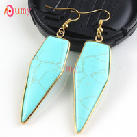 arrow pictures - Pairs Trendy K Gold Plated Turquoise Picture Stone Arrow Dangle Earrings For Women Designs Jewelry