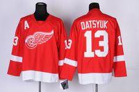 Wholesale Detroit Red Wings Pavel Datsyuk Red Home Premier Hockey Jerseys Men s Hockey Uniform Ice Hockey Apparel Red Wings Jerseys Best Selling