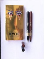 Wholesale 2016 New Arrival kylie Jenner eyeliner Eyeliner Pencil waterproof Black and brown Kylie gold version DHL free