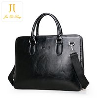best leather briefcases - New Arrival Black Genuine Leather Fashion Bag Business Men Briefcase Valentine s Day Best Gift for your Lover Father Cross Bdoy