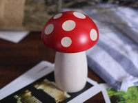 aluminium oxide ceramic - mushroom spice mill pepper mill wooden spice mill wooden pepper mill ceramic grinder Acrylic paint Aluminium oxide grinder