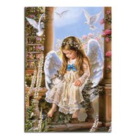 angels drawings - Angel Wings Drawings Girl D Diy Diamond Painting Religion Wall Sticker Home Decor Cross Stitch Needlework Embroidery Diamond