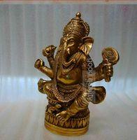 al por mayor figuras del budismo-Buen budismo tibetano Tantra Ganesha Elefante de Geneisha Dios cabeza de la estatua buddha figura figurin Dios de la victoria
