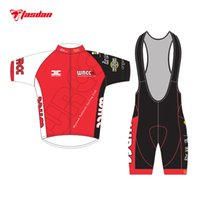 Wholesale Tasdan Custom Mens Cycling Jerseys Sets Short Sleeve Jersey Cycling Bibs