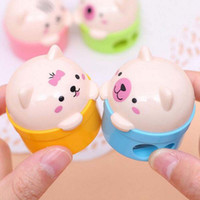 bear pencil - 5pcs New Fashion Bear Pencil Sharpener Cute Prize Gifts Children s toys School Office Supplies Creative Material Escolar