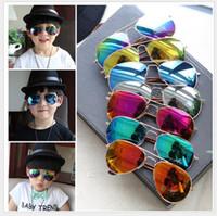 Wholesale New Style Children Girls Boys Sunglasses Kids Beach Supplies UV Protective Eyewear Baby Fashion Sunshades Glasses Accessories