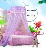 Wholesale Mosquito hot sale bed nets Suspended ceiling Princess big top floor m bed double