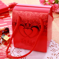 Wholesale Red Candy Favor Sweet box Candy Boxes New Candy Favors Novelty Wedding Favors holders Unique Design