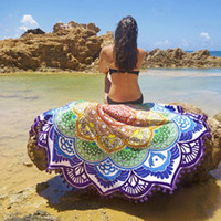bath hair - Indian Round Mandala Tapestry Wall Hanging Throw Towel Boho Beach Yoga Mat Decor