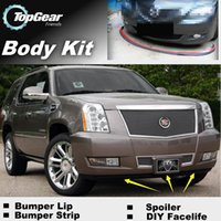 Wholesale Bumper Lip Lips For Cadillac Escalade GTM K2XL Front Skirt Deflector Spoiler For Car Tuning The Stig Recommend Body Kit Strip