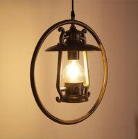 Wholesale Vintage Metel Pendant Lamp Industrial Loft Retro Droplight Bar Cafe Bedroom Restaurant E27 V